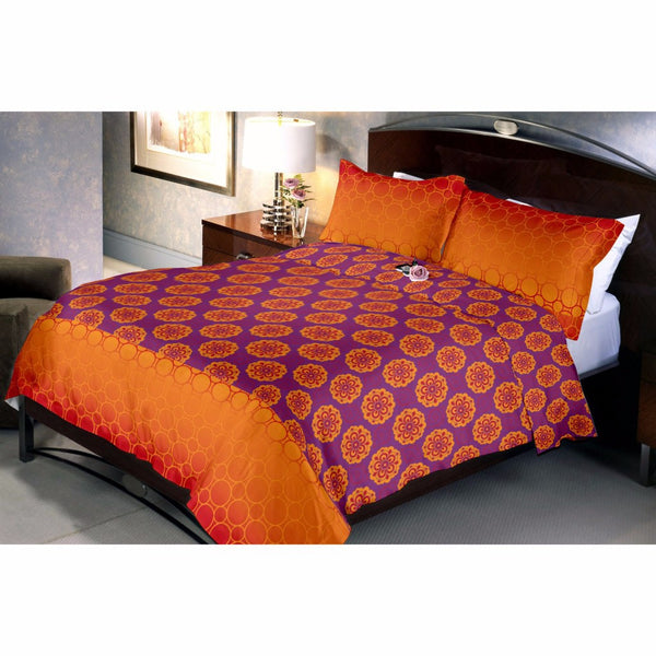 Dark Orgenta Bed Sheet And Pillow Covers (Queen)