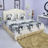 Monochrome Bed Sheet And Pillow Covers (Queen) - uber-urban