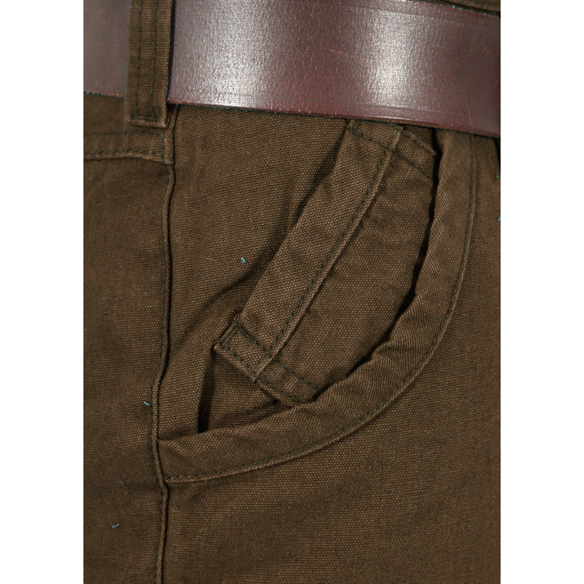 Olive Trouser close up view