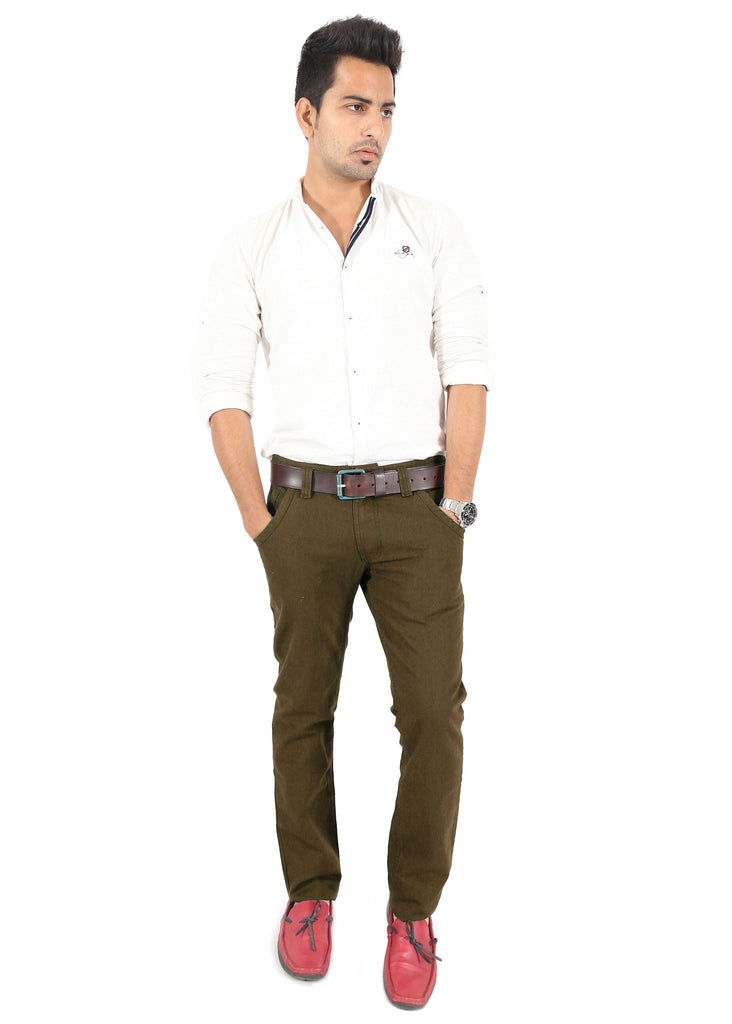 Olive Trouser full view