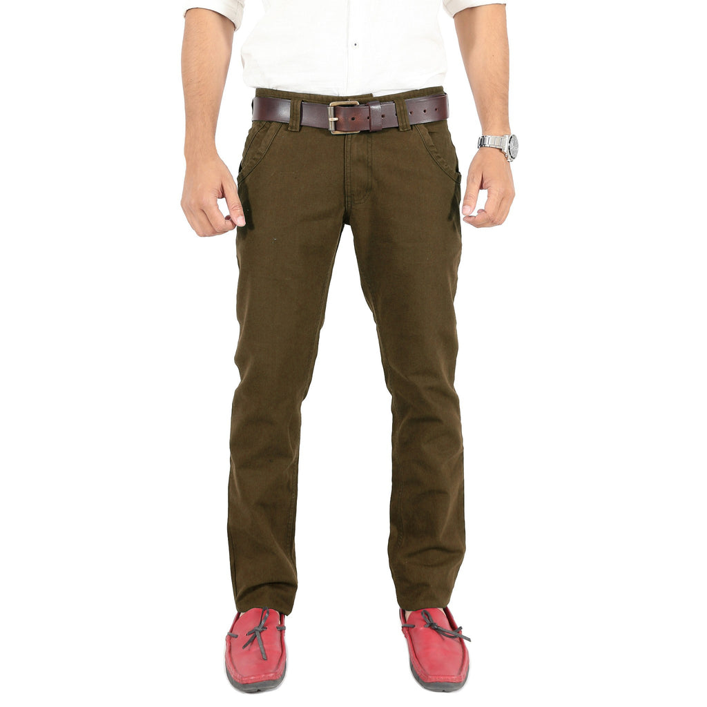 Olive Trouser front view