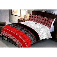 Bright Dark Contrast Queen Size Bedsheet With 2 Pillow Cover