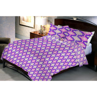 Magenta Zeugen Queen Size Bedsheet With 2 Pillow Cover