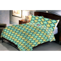 Green Zeugen Queen Size Bedsheet With 2 Pillow Cover - Über Urban Bedsheet