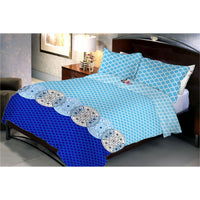 Sky Sea Merger Queen Size Bedsheet With 2 Pillow Cover