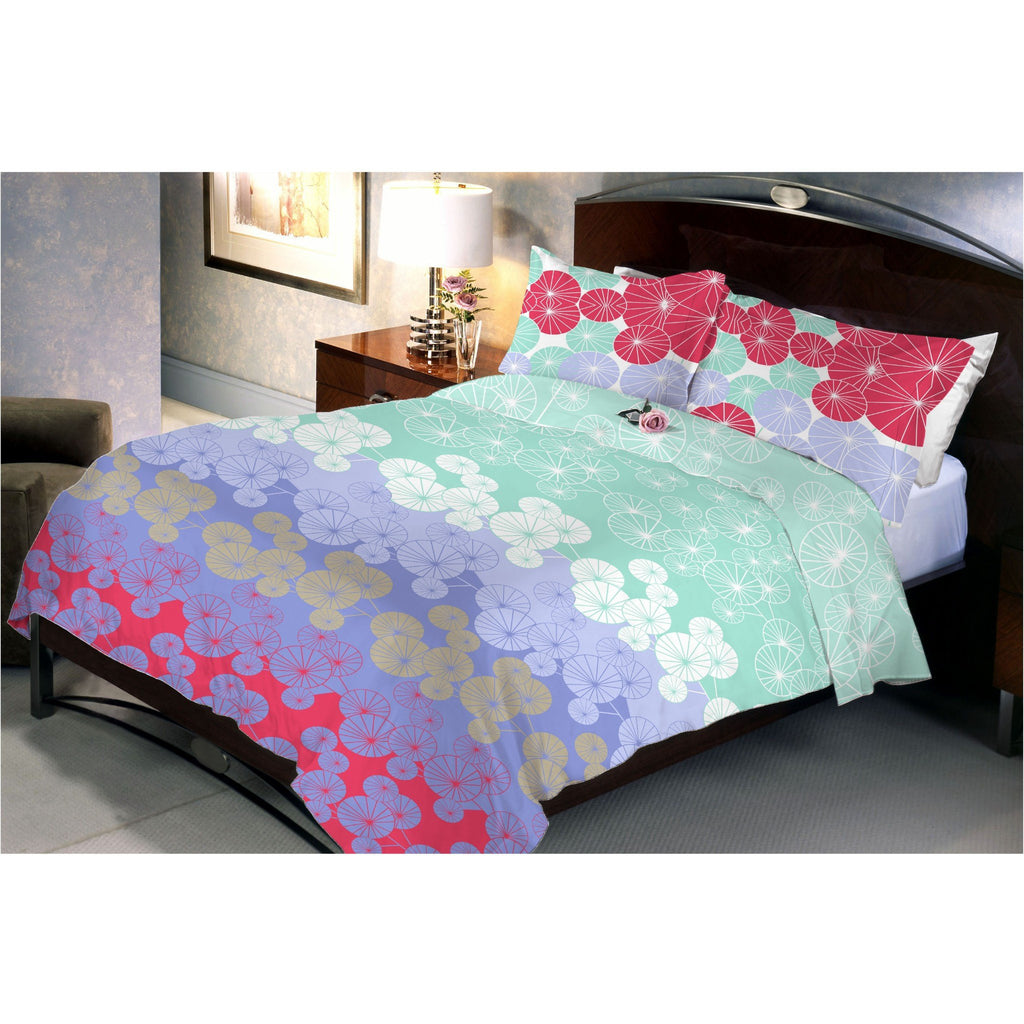 Temperate Garden Queen Size Bedsheet With 2 Pillow Cover - Über Urban Bedsheet