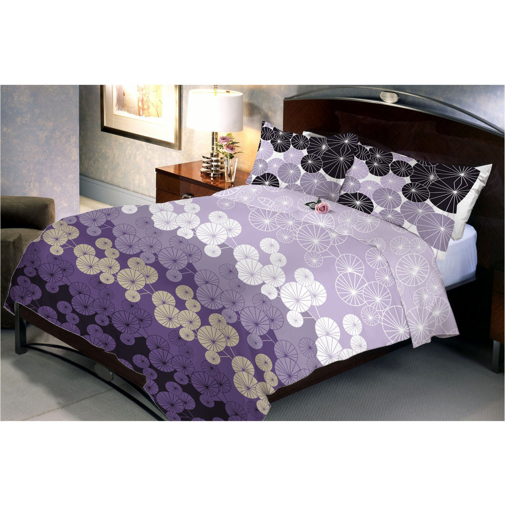Moon Light Queen Size Bedsheet With 2 Pillow Cover - Über Urban Bedsheet