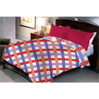 Diamond square red bed sheet