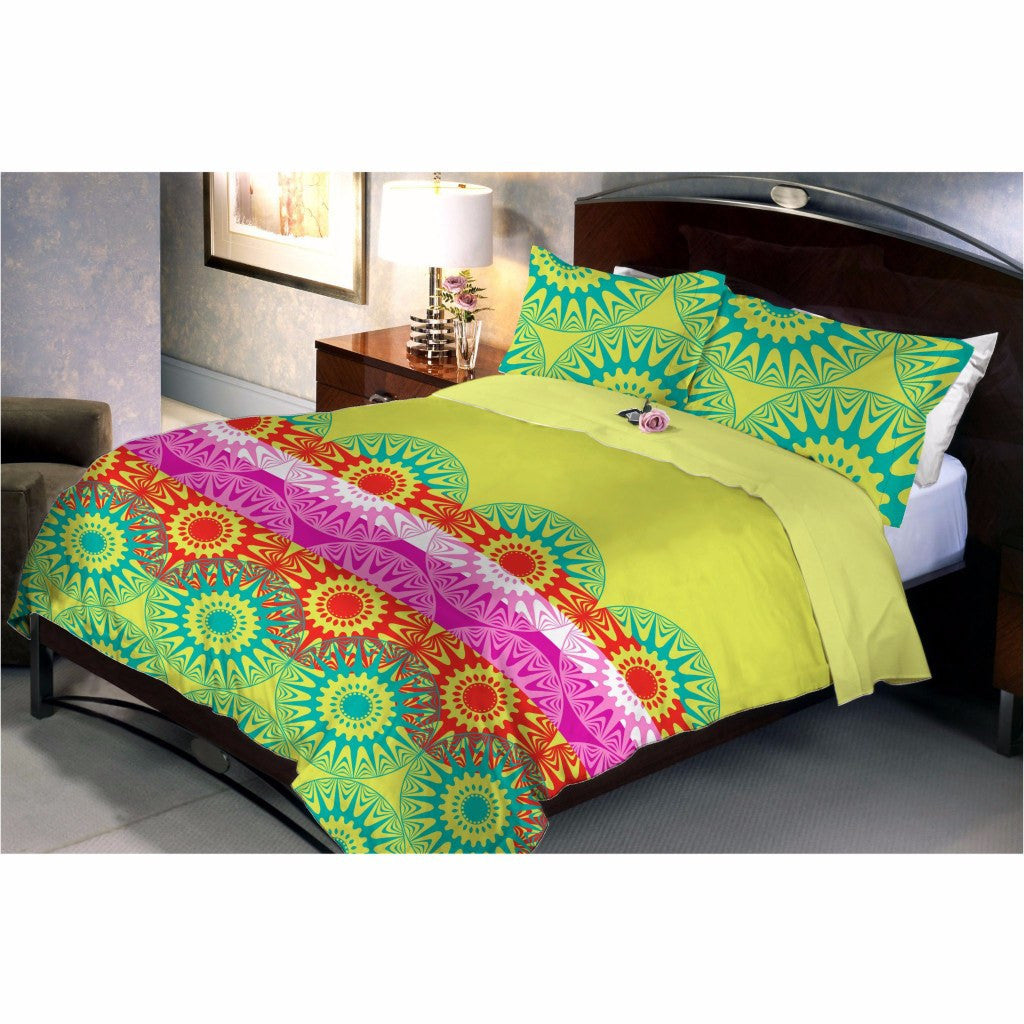 Leafy green bed sheet
