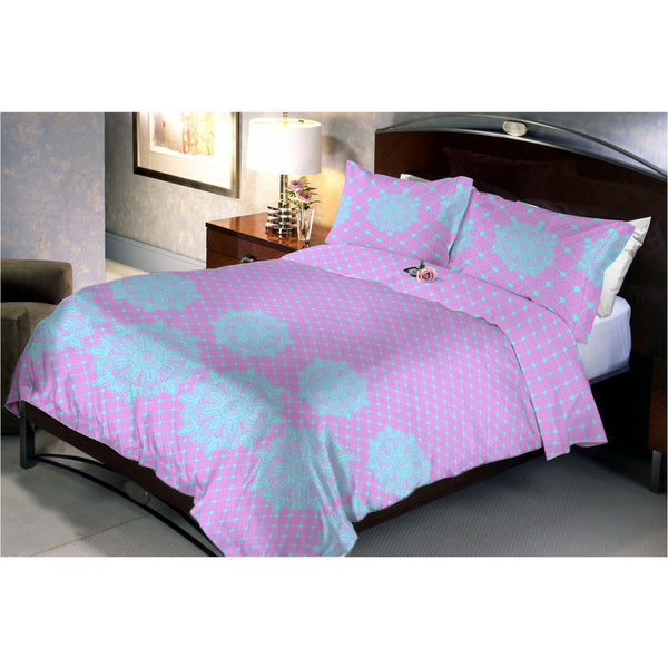 Strawberry lavander bed sheets and pillow covers - uber-urban
