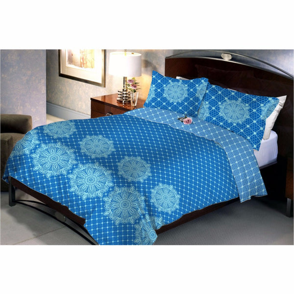 Blue Star Bed Sheet And Pillow Covers (Queen) - uber-urban
