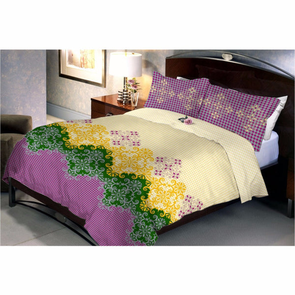 Peach Violet bed sheet and pillow covers - uber-urban