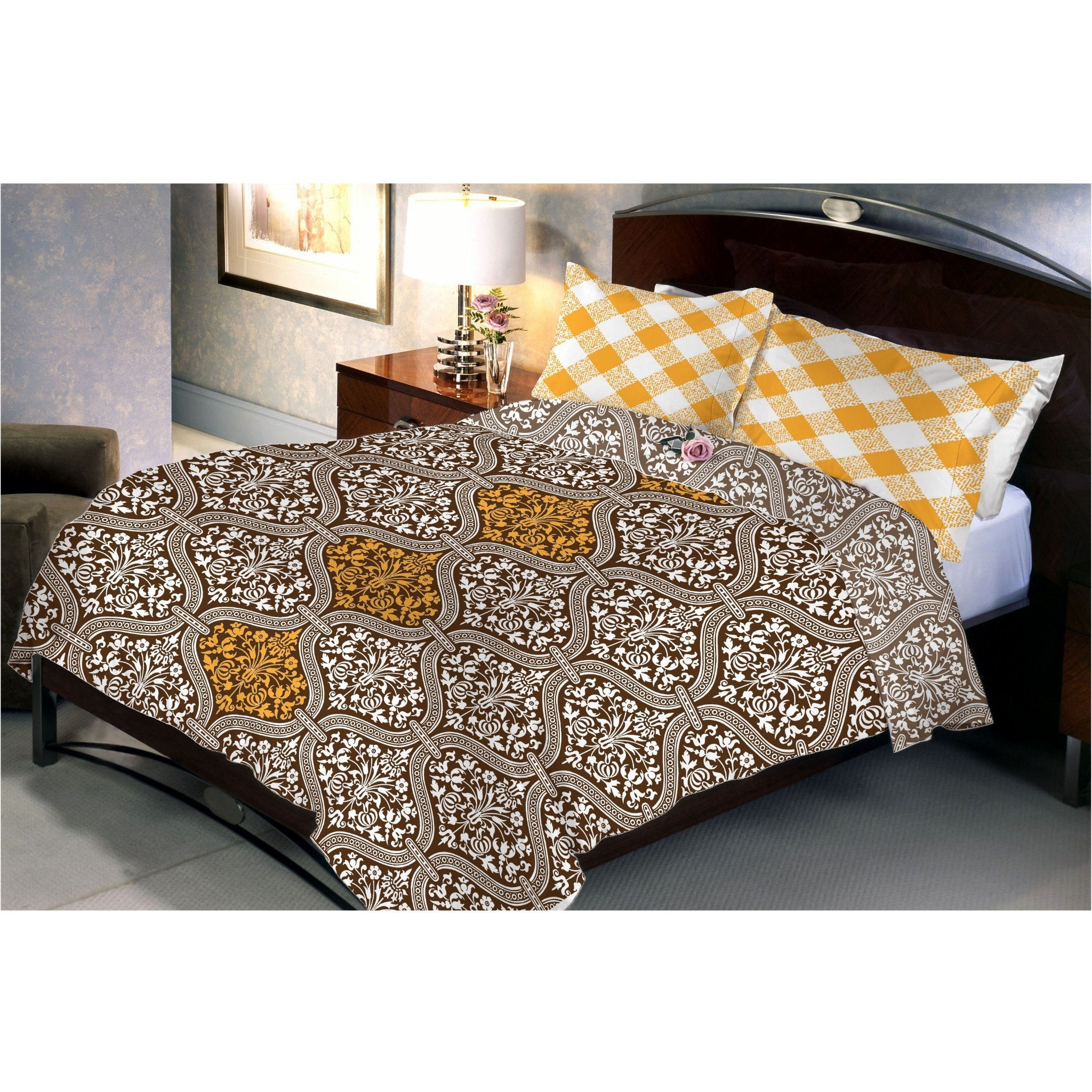 Saddle Brown Bed Sheet