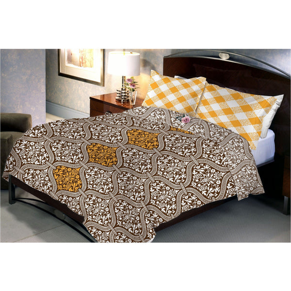 Saddle Brown Bed Sheet With 2 Pillow Cover