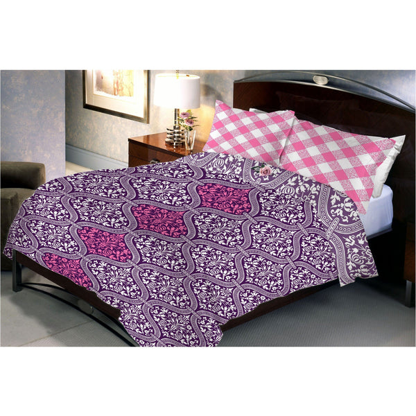 Rebecca Purple Bed Sheet With 2 Pillow Cover - uber-urban