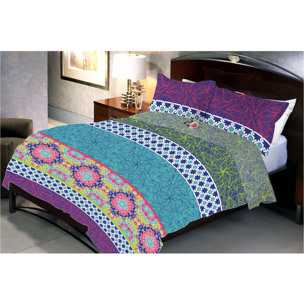 Water Lilly Bed Sheet With 2 Pillow Cover