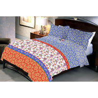Noon Twilight Cotton Queen Size Bedsheet With 2 Pillow Cover