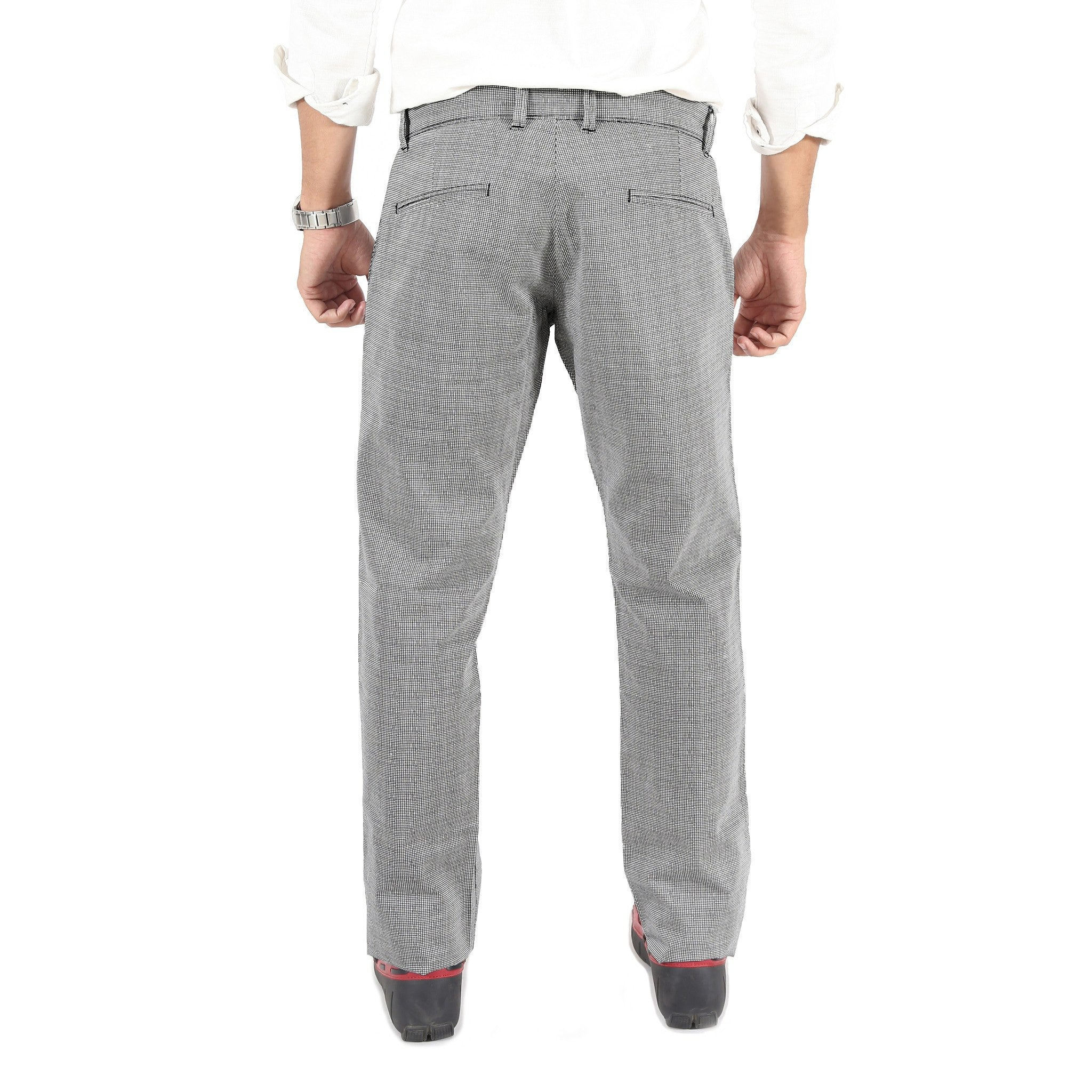 Wavy Grid Checks Trouser By Uber Urban Back