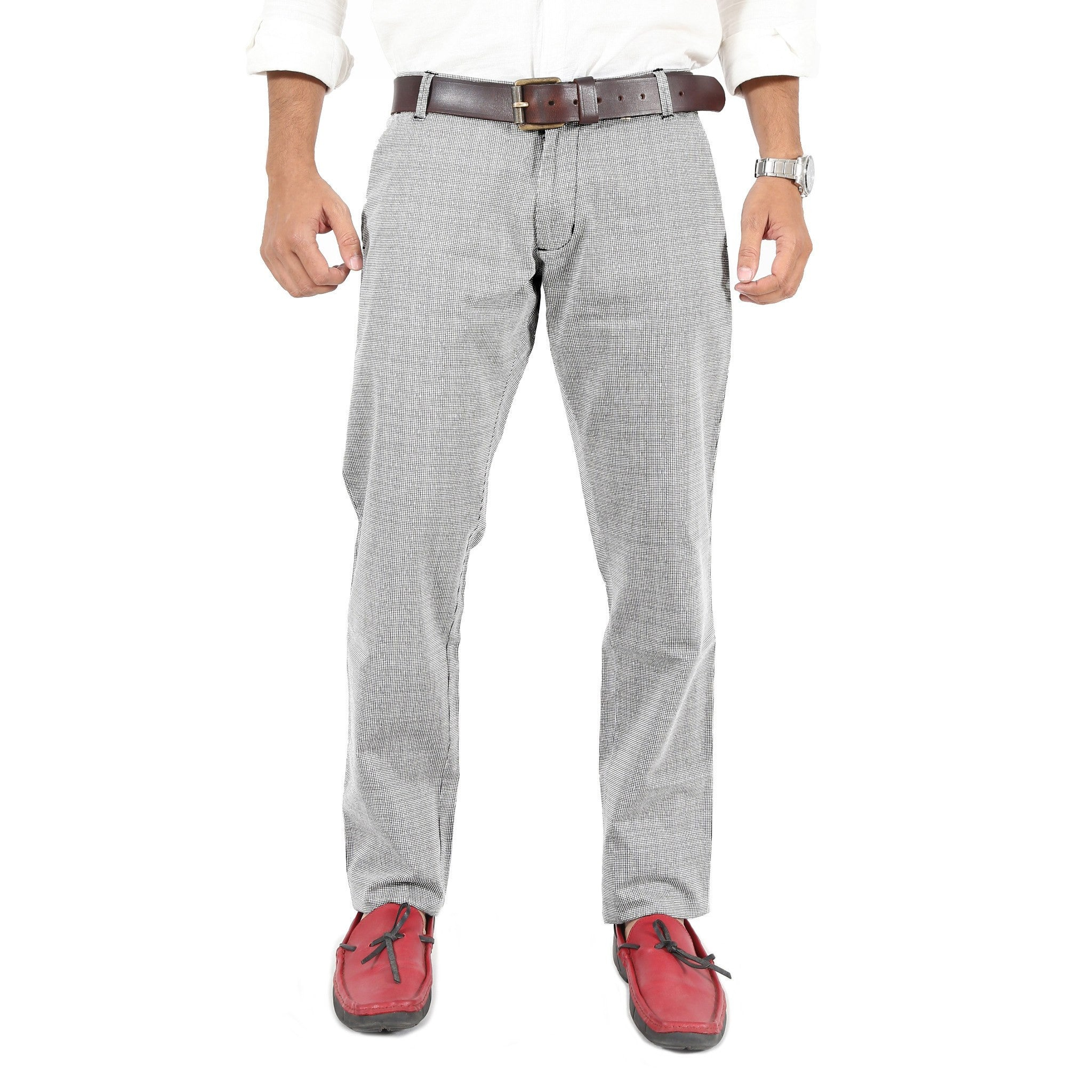 Wavy Grid Checks Trouser By Uber Urban Front