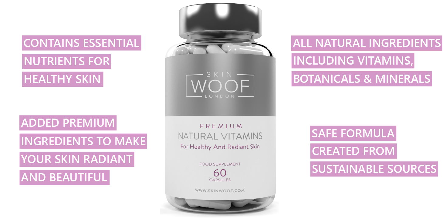 Skin Woof vitamins for healthy and radiant skin. How it works