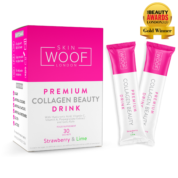 SKIN WOOF COLLAGEN BEAUTY DRINK 30 SACHETS (STRAWBERRY & LIME)