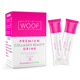 SKIN WOOF COLLAGEN BEAUTY DRINK 90 SACHETS (STRAWBERRY & LIME)