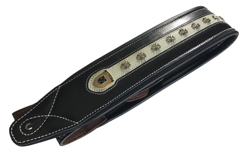 PREMIUM LEATHER SCRIPT GUITAR STRAPS