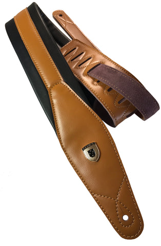 OX-HIDE Leather & Soft Padded Guitar Straps