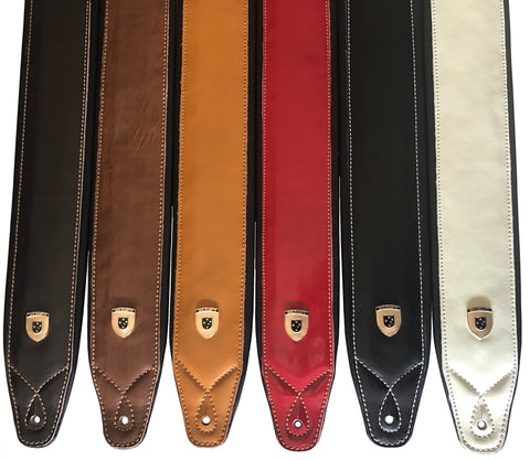 Leather SUPREME & SLIM Script Guitar Straps