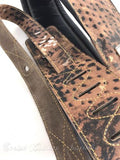 "Genuine Leather Soft Padded Supreme ""Mud & Guts"" Guitar Strap"