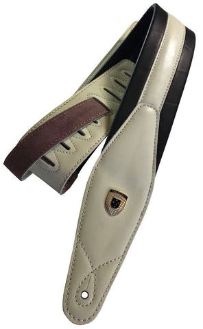 "Genuine Leather Soft Padded  ""Pure Innocence""  SCRIPT  Guitar Strap"