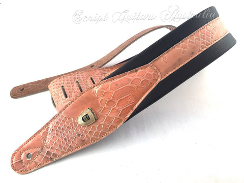 "Genuine Leather Soft Padded ""THE MERMAID""  Electric, Acoustic, Bass Guitar Strap"