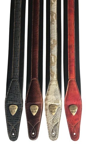 Genuine Leather Soft Padded Variation Guitar Straps Electric, Acoustic, Bass