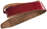 Soft Genuine Leather Classic DELUXE Acoustic, Electric, Bass SCRIPT Guitar Strap