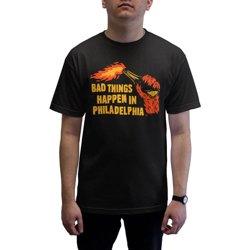 "Buy Now – ""Bad Things"" Shirt – Philly & Sports Merch – Cracked Bell"