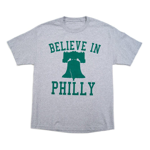 """Believe in Philly"" Ath. Heather/Green Shirt"
