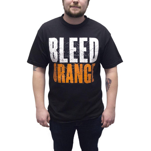 "Buy Now – ""Bleed Orange"" Shirt – Philly & Sports Merch – Cracked Bell"