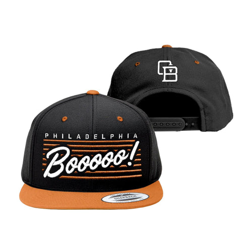 "Buy Now – ""Boo"" Black/Orange Snapback – Philly & Sports Merch – Cracked Bell"