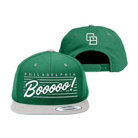 """Boo"" Green/White Snapback"
