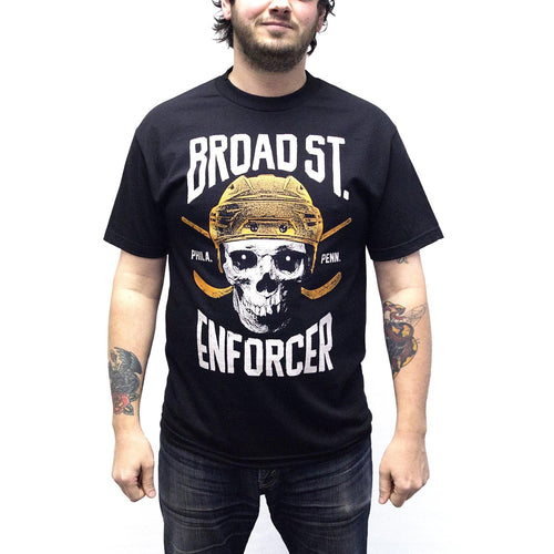 "Buy Now – ""Broad Street Enforcer"" Shirt – Philly & Sports Merch – Cracked Bell"