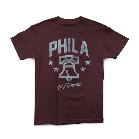 """City of Champions"" Burgundy Shirt"