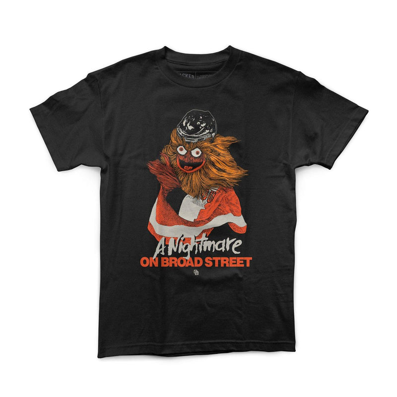 "Buy Now – ""A Nightmare On Broad Street"" Shirt – Philly & Sports Merch – Cracked Bell"