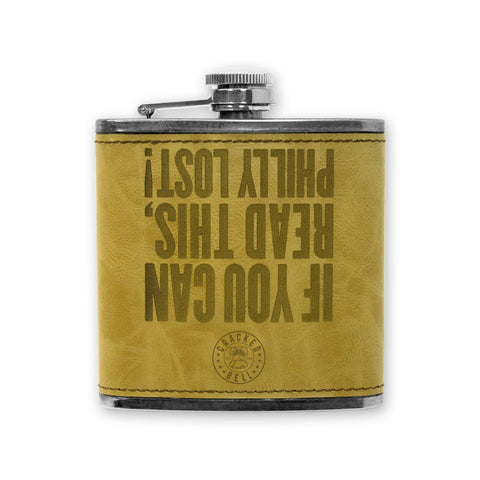"""Philly Lost"" Faux Leather Flask"