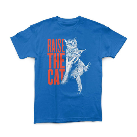 """Raise The Cat"" Blue Shirt"