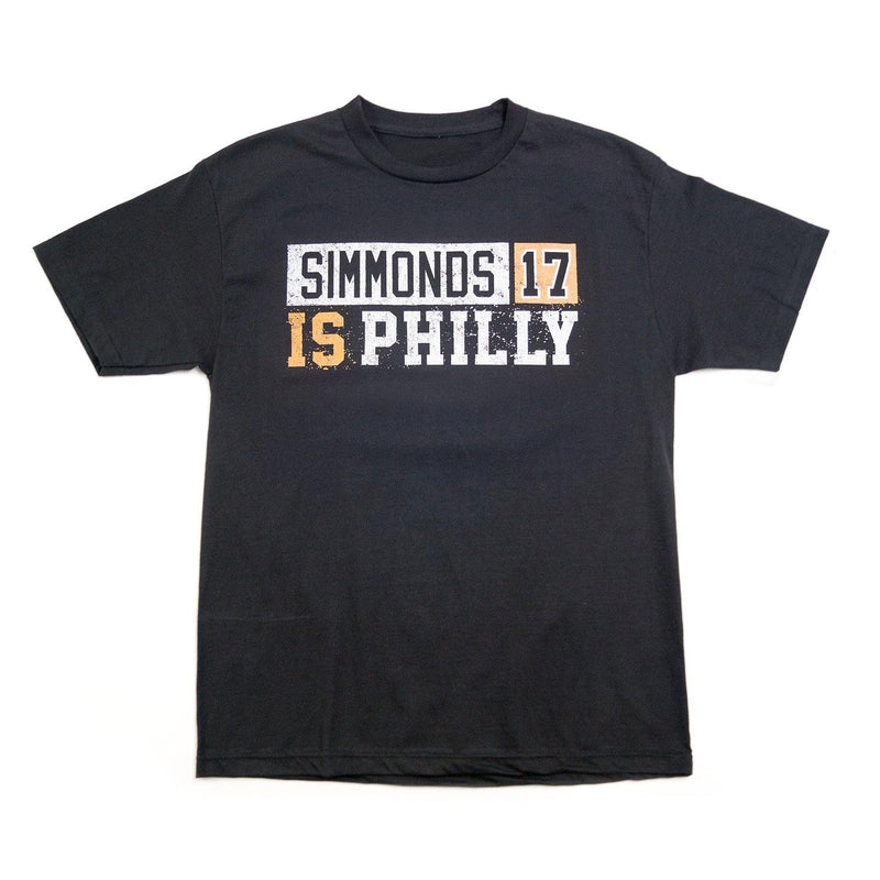 "Buy Now – ""Simmonds is Philly"" Shirt – Philly & Sports Merch – Cracked Bell"