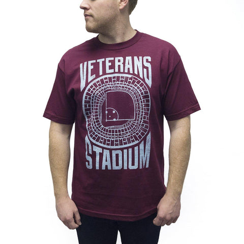 """Veterans Stadium"" Maroon Shirt"