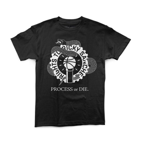 "Rights To Ricky Sanchez ""Process or Die"" Vintage Black Shirt"