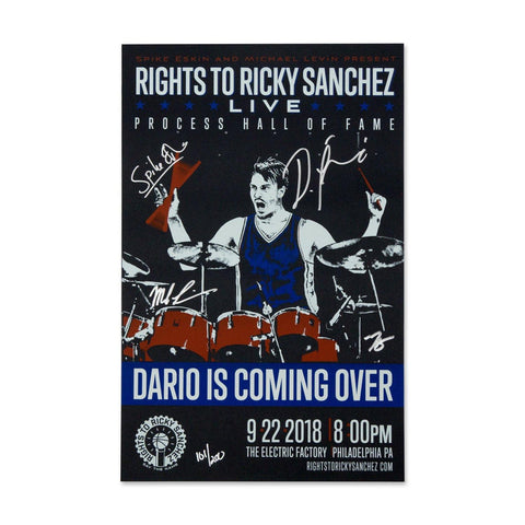 "Rights To Ricky Sanchez ""Dario Drums"" Signed Poster"