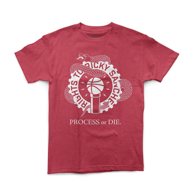 "Rights To Ricky Sanchez ""Process Or Die"" Red Shirt"