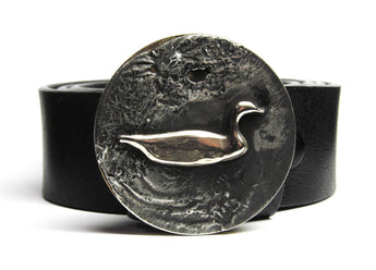 Swimming Goose Belt Buckle - TYGER FORGE - Mark Goodwin